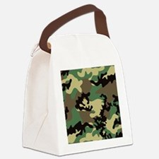 Necklace-Heart-Charm Canvas Lunch Bag