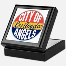 Los Angeles Vintage Label W Keepsake Box