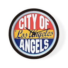 Los Angeles Vintage Label W Wall Clock