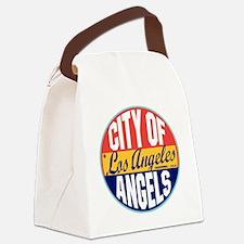 Los Angeles Vintage Label W Canvas Lunch Bag