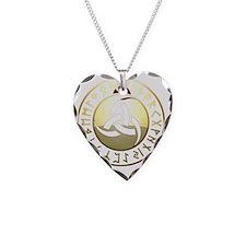 triple horn rune shield Necklace