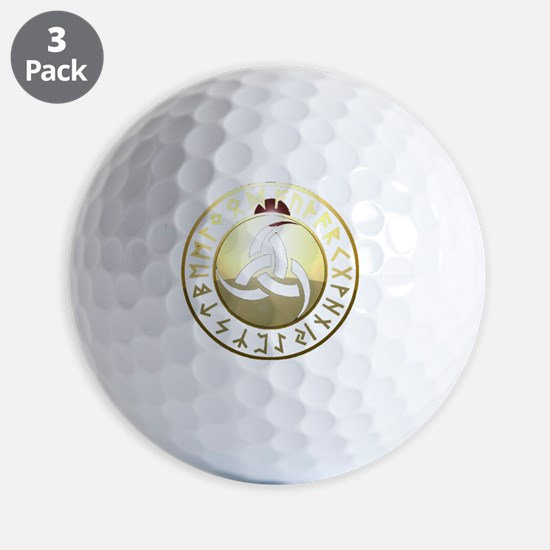 triple horn rune shield Golf Ball