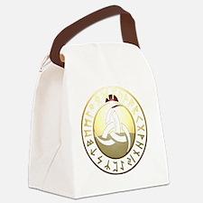 triple horn rune shield Canvas Lunch Bag