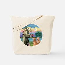 R-StFrancis-2 Goldens Tote Bag