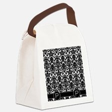 p_flip_flops_monogram_02 Canvas Lunch Bag