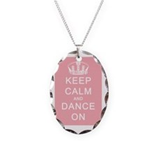 Keep Calm and Dance On Pink Ba Necklace