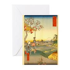 Viewing Mt Fuji Greeting Cards (Pk of 10)