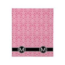 m_flip_flops_monogram_04 Throw Blanket