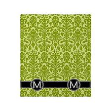 m_flip_flops_monogram_03 Throw Blanket