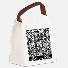 S_flip_flops_monogram_02 Canvas Lunch Bag