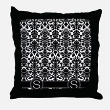 S_flip_flops_monogram_02 Throw Pillow