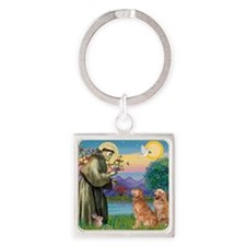 StFrancis-2Goldens Square Keychain