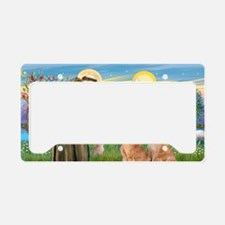 LIC-StFrancis-2 Goldens License Plate Holder