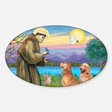 LIC-StFrancis-2 Goldens Sticker (Oval)