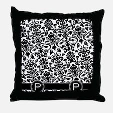 p_flip_flops_monogram_01 Throw Pillow
