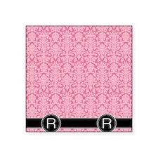"R_flip_flops_monogram_04 Square Sticker 3"" x 3"""