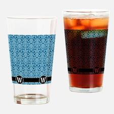 W_flip_flops_monogram_05 Drinking Glass