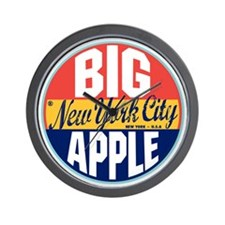 New York Vintage Label W Wall Clock