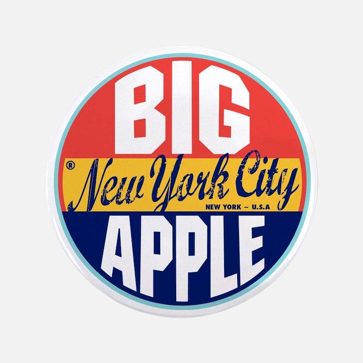 "New York Vintage Label W 3.5"" Button"