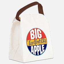 New York Vintage Label W Canvas Lunch Bag