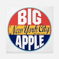 New York Vintage Label W Queen Duvet