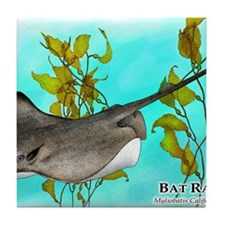 Bat Ray Tile Coaster