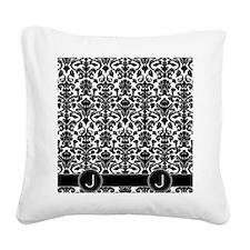 J_flip_flops_monogram_02 Square Canvas Pillow