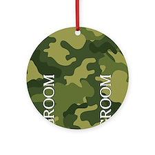 flip_flops_groom_01 Round Ornament