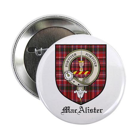 """MacAlister Clan Crest Tartan 2.25"""" Button (10 pack"""