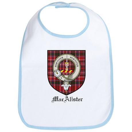 MacAlister Clan Crest Tartan Bib
