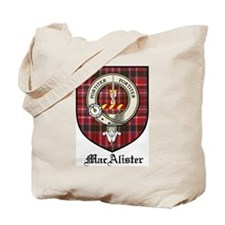 MacAlister Clan Crest Tartan Tote Bag