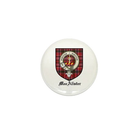 MacAlister Clan Crest Tartan Mini Button (10 pack)