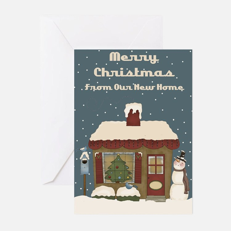 First Christmas In New Home Greeting Cards