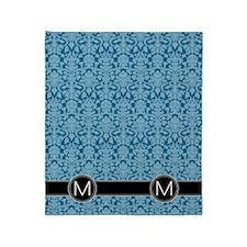 m_flip_flops_monogram_05 Throw Blanket