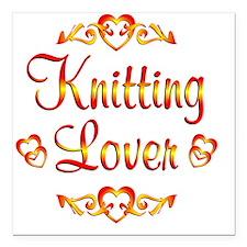 "knitting Square Car Magnet 3"" x 3"""
