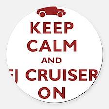 keep-calm-fl-circle Round Car Magnet