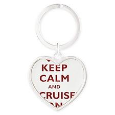 keep-calm-fl-circle Heart Keychain