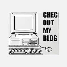 checkoutmyblog Throw Blanket