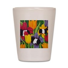 tulips300 2 Shot Glass