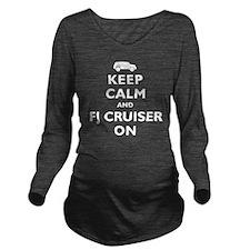 keep-calm-fj-black Long Sleeve Maternity T-Shirt