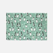 penguin_blanket_green Rectangle Magnet