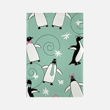 penguin_441_green Rectangle Magnet