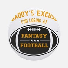 Fantasy Football - Black and Gold Round Ornament