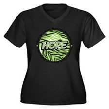 Hope green l Women's Plus Size Dark V-Neck T-Shirt
