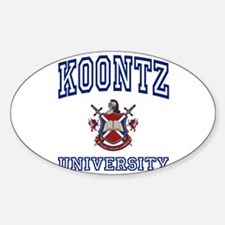 KOONTZ University Oval Decal