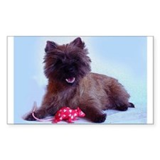 Cairn Terrier with Rat Decal