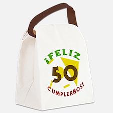 SpanishBirthday50 Canvas Lunch Bag