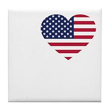 USA Love - dk Tile Coaster