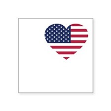 "USA Love - dk Square Sticker 3"" x 3"""