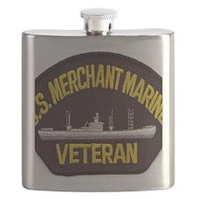 U S MERCHANT NARINE VET Flask
